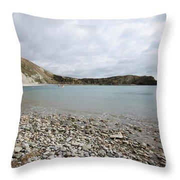 Lulworth Cove Throw Pillow