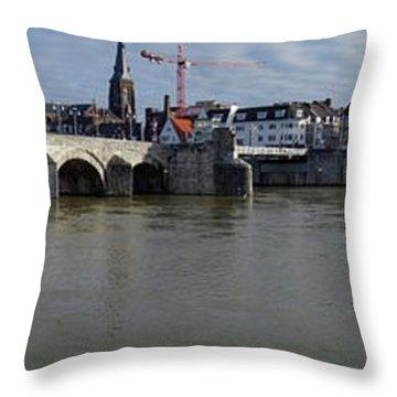 Sint Servaasbrug Throw Pillows