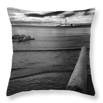 Mackinac Bridge - Infrared 01 Throw Pillow