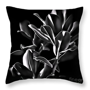Magnolia Leaves Throw Pillow by Walt Foegelle