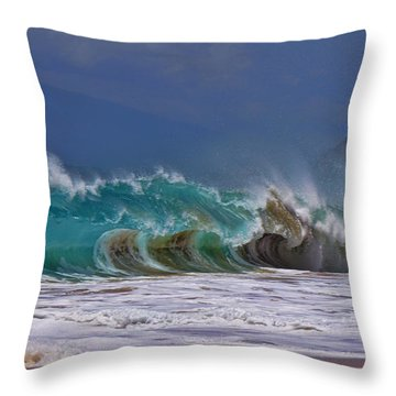 Makena Surf Throw Pillow by James Roemmling