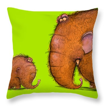 Mammothz Throw Pillow