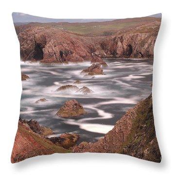 Mangersta Coastline Throw Pillow