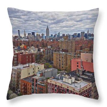 Manhattan Landscape Throw Pillow by Joan Reese