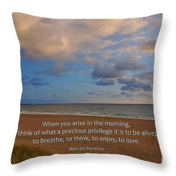 2- Marcus Aurelius Throw Pillow by Joseph Keane