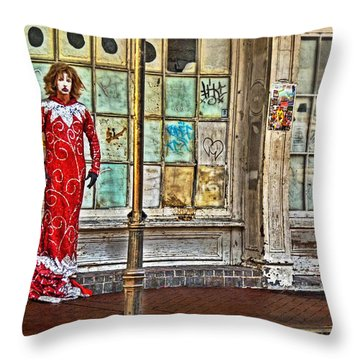 Mardi Gras Queen Throw Pillow by William Fields