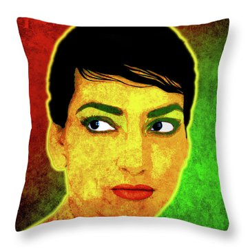 Maria Callas Throw Pillow