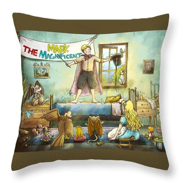 Mark The Magnificent Throw Pillow