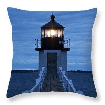 Marshall Point Light Throw Pillow by John Greim