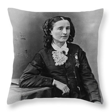 Mary Edwards Walker Throw Pillow by Granger