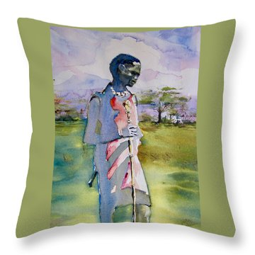 Masaai Boy Throw Pillow