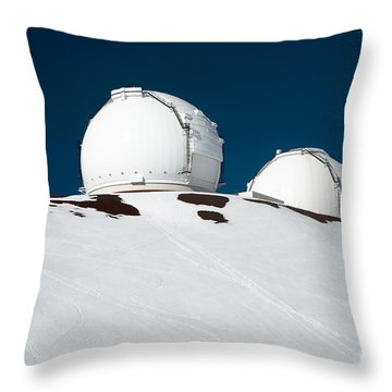 Mauna Kea Observatory Throw Pillow by Peter French - Printscapes