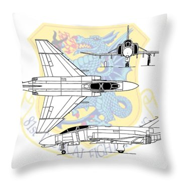 Throw Pillow featuring the digital art Mcdonnell Douglas F-4d Phantom II by Arthur Eggers