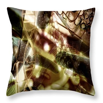 Throw Pillow featuring the digital art Medils Art by Danica Radman