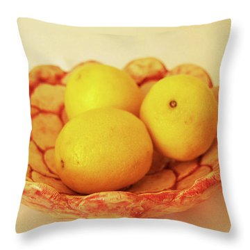 Throw Pillow featuring the photograph Medium Patches Bowl1 by Itzhak Richter