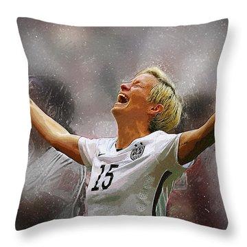 Megan Rapinoe Throw Pillow