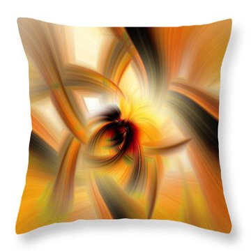 Mellow Yellow Throw Pillow by Cathy Donohoue