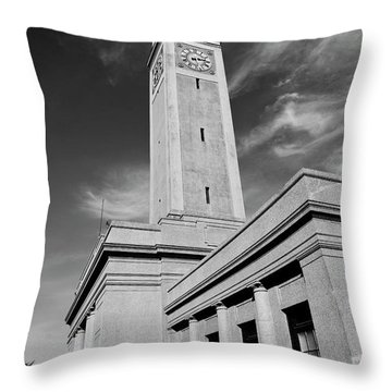 Memorial Tower - Lsu Bw Throw Pillow