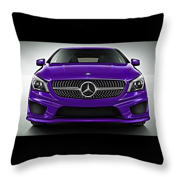 Mercedes Cla Class Coupe Collection Throw Pillow
