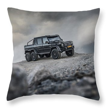 Mercedes G63 6x6 In Oman Throw Pillow