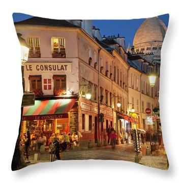 Montmartre Twilight Throw Pillow