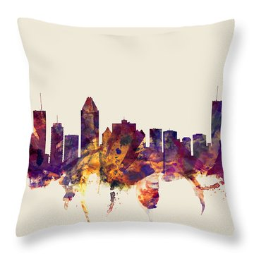 Montreal Canada Skyline Throw Pillow