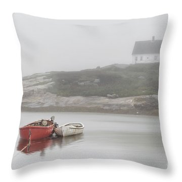 Moody Harbor Throw Pillow