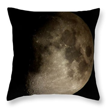 Moon Throw Pillow by George Leask
