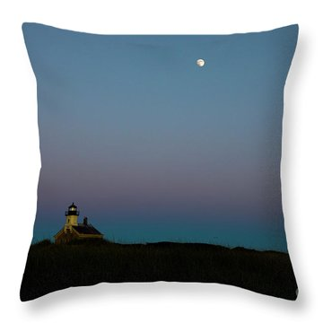 Moon Over The North Light Throw Pillow