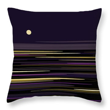 Moonlight Bay Throw Pillow by Val Arie