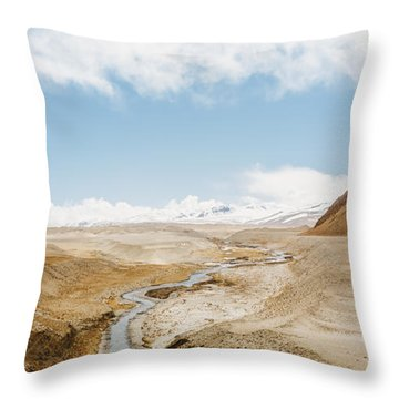 Throw Pillow featuring the photograph Mount Everest by Setsiri Silapasuwanchai