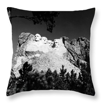 Mount Rushmore Throw Pillow by Granger