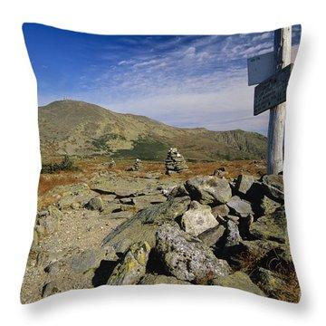 Mount Washington - White Mountains New Hampshire Usa Throw Pillow by Erin Paul Donovan