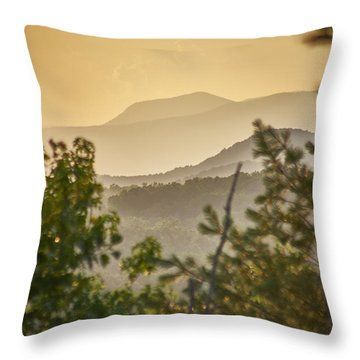 Throw Pillow featuring the photograph Mountains In The Distance by Willard Killough III