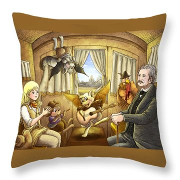 Ned Buntline Throw Pillow by Reynold Jay