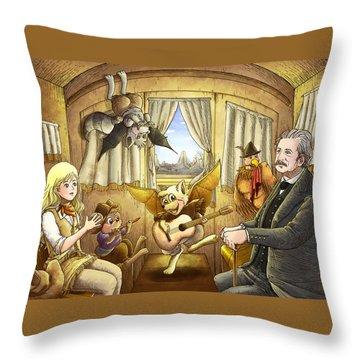 Ned Buntline Throw Pillow