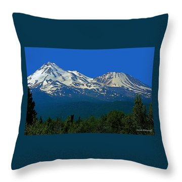 Mt. Shasta Throw Pillow