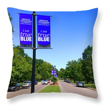 Mtsu Murfreesboro Tn, Usa Throw Pillow