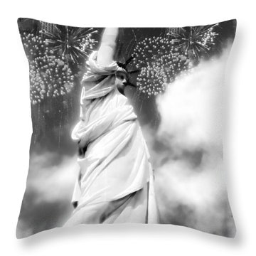 My Lady Liberty Throw Pillow by Janie Johnson