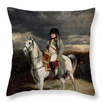 Napoleon Bonaparte On Horseback Throw Pillow