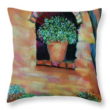 Nash's Courtyard Throw Pillow