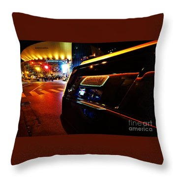 Nashville Night Throw Pillow