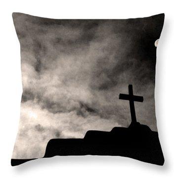 New Mexico Moon Throw Pillow