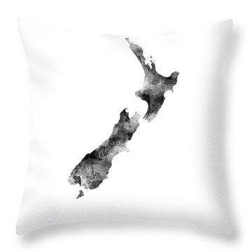 New Zealand Map Throw Pillow