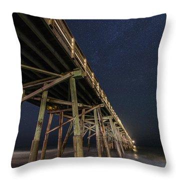 Night Pier Throw Pillow