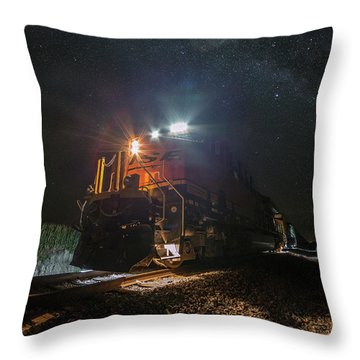 Throw Pillow featuring the photograph Night Train  by Aaron J Groen
