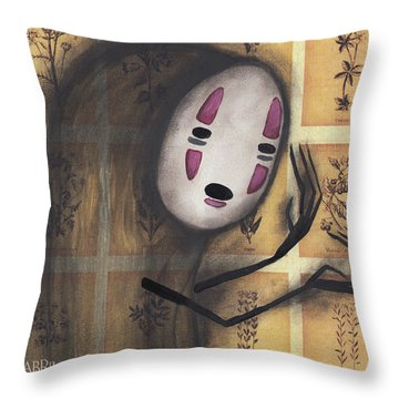 No Face Throw Pillow by Abril Andrade Griffith