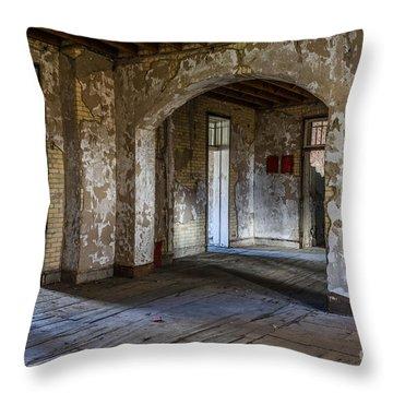 Northern Michigan Asylum Throw Pillow