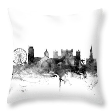 Nottingham England Skyline Throw Pillow