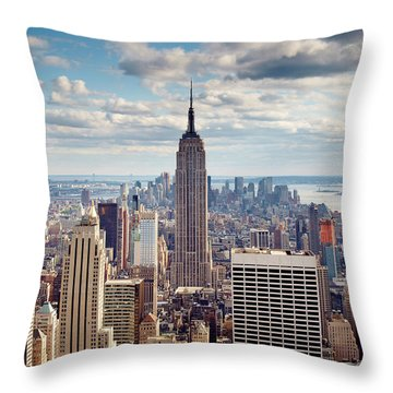 Manhattan Skyline Throw Pillows